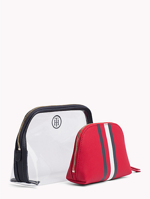 TOMMY HILFIGER 2-in-1 Wash Bag - TOMMY RED/ CORP STRIPE - TOMMY HILFIGER Make-up Bags - detail image 1