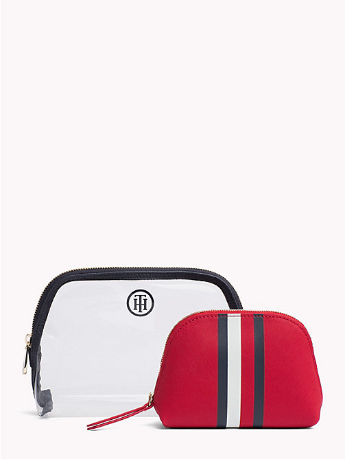 TOMMY HILFIGER 2-in-1 Wash Bag - TOMMY RED/ CORP STRIPE - TOMMY HILFIGER Stocking Stuffers - main image