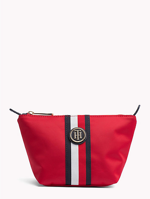 TOMMY HILFIGER Monogram Make-Up Bag - TOMMY RED/ CORP STRIPE - TOMMY HILFIGER Bags & Accessories - main image