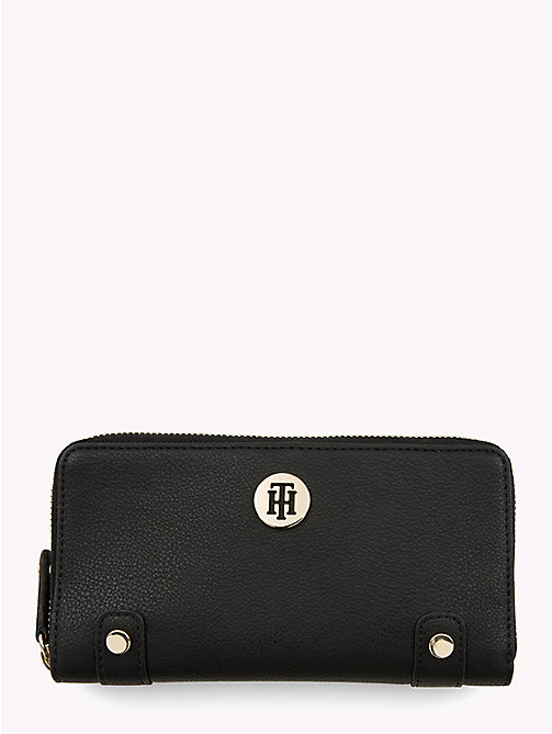 TOMMY HILFIGER Monogram Wallet - BLACK - TOMMY HILFIGER Black Friday Women - main image