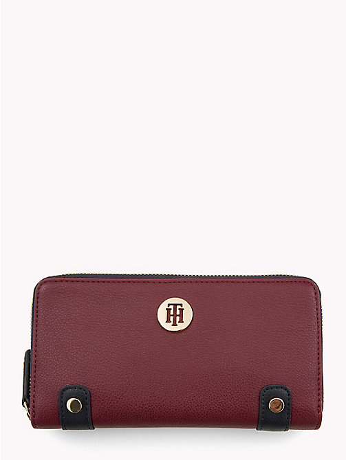 TOMMY HILFIGER Monogram Wallet - BURGUNDY/ TOMMY NAVY - TOMMY HILFIGER Black Friday Women - main image