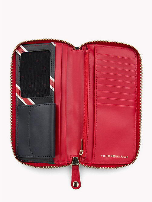 TOMMY HILFIGER Monogram Wallet - CORP PAINTED STRIPE/ TOMMY RED - TOMMY HILFIGER Stocking Stuffers - detail image 1