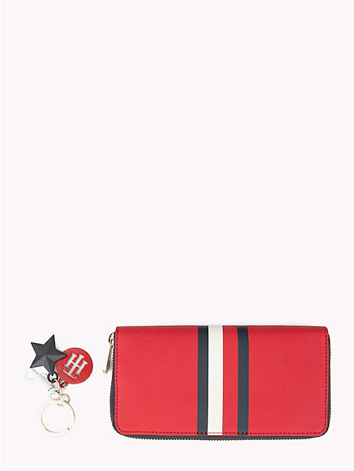 TOMMY HILFIGER Monogram Wallet and Key Fob Gift Set - TOMMY RED/ CORP STRIPE - TOMMY HILFIGER Wallets & Keyrings - detail image 1