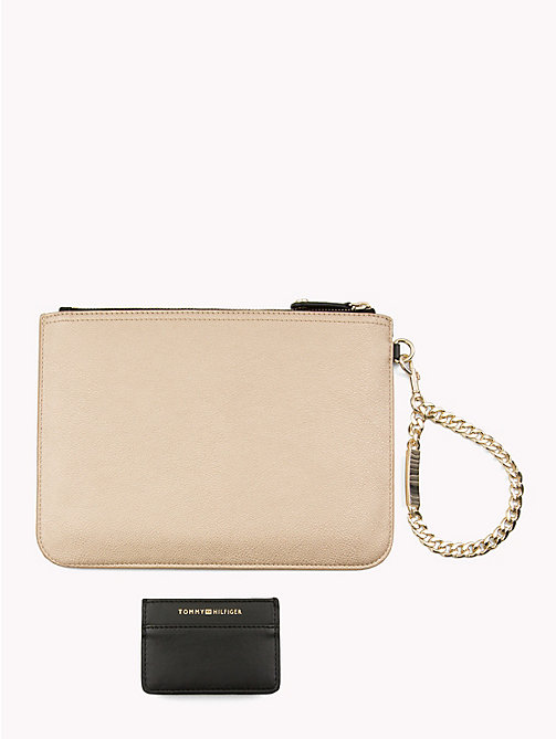 TOMMY HILFIGER Chain Pouch Gift Set - GOLD/ BLACK - TOMMY HILFIGER Wallets & Keyrings - detail image 1