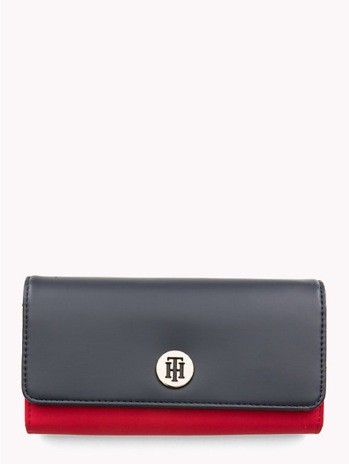 TOMMY HILFIGER Dressy Flap Wallet - TOMMY RED / TOMMY NAVY - TOMMY HILFIGER Wallets - main image