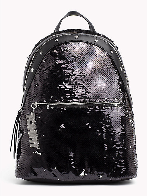 TOMMY HILFIGER Sequinned Mascot Backpack - BLACK - TOMMY HILFIGER Backpacks - main image