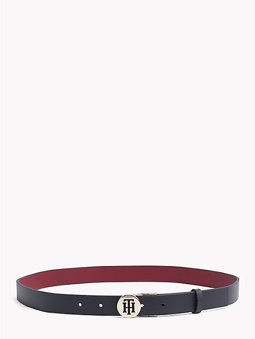 TOMMY HILFIGER Round Buckle Reversible Belt - TOMMY NAVY/ BURGUNDY - TOMMY HILFIGER Black Friday Women - main image