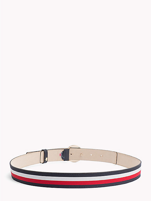 TOMMY HILFIGER Round Buckle Leather Belt - CORPORATE - TOMMY HILFIGER Black Friday Women - detail image 1