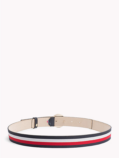 TOMMY HILFIGER Round Buckle Leather Belt - CORPORATE - TOMMY HILFIGER Belts - detail image 1