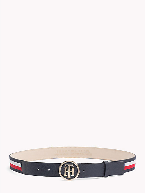 TOMMY HILFIGER Round Buckle Leather Belt - CORPORATE - TOMMY HILFIGER Black Friday Women - main image