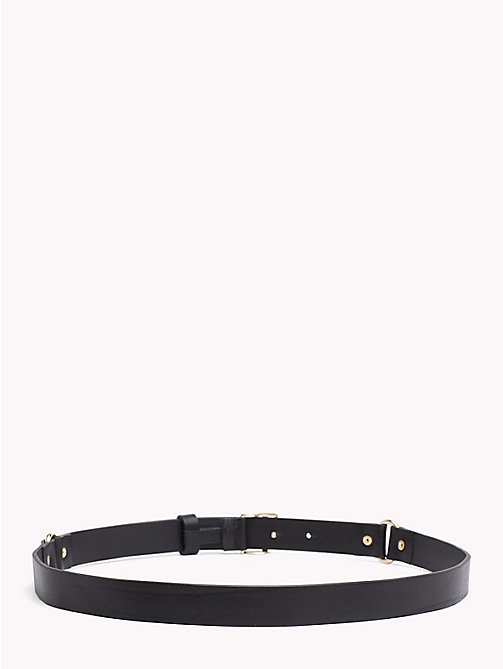 TOMMY HILFIGER Monogram Leather Belt - BLACK - TOMMY HILFIGER Stocking Stuffers - detail image 1