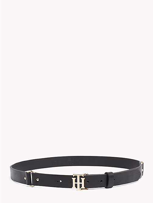 TOMMY HILFIGER Monogram Leather Belt - BLACK - TOMMY HILFIGER Stocking Stuffers - main image