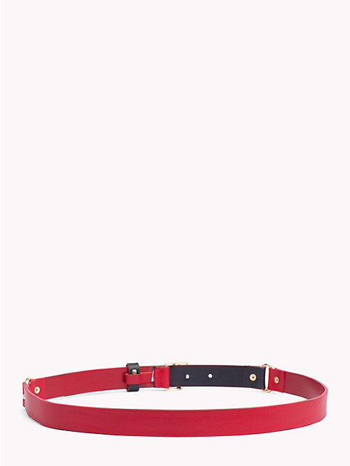 TOMMY HILFIGER Monogram Leather Belt - CORPORATE - TOMMY HILFIGER Belts - detail image 1