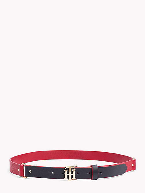TOMMY HILFIGER Monogram Leather Belt - CORPORATE - TOMMY HILFIGER Black Friday Women - main image