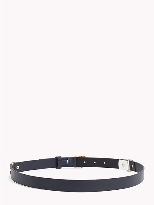TOMMY HILFIGER Monogram Leather Belt - TOMMY NAVY/ SILVER - TOMMY HILFIGER Bags & Accessories - detail image 1