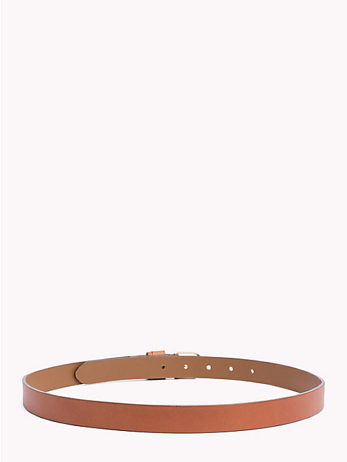 TOMMY HILFIGER Classic Leather Belt - DARK TAN - TOMMY HILFIGER Belts - detail image 1