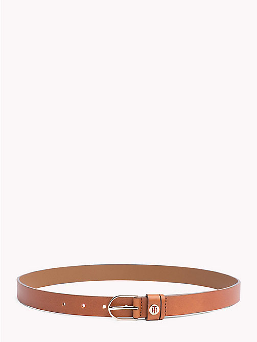 Classic Leather Belt - DARK TAN - TOMMY HILFIGER Belts - main image