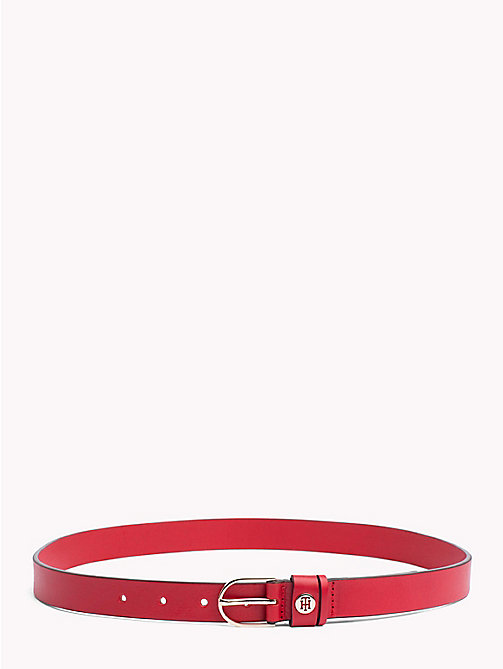 TOMMY HILFIGER Classic Leather Belt - TOMMY RED - TOMMY HILFIGER Belts - main image