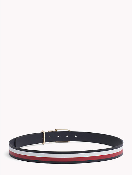 TOMMY HILFIGER Reversible leren riem - TOMMY NAVY/ CORPORATE - TOMMY HILFIGER NIEUW - detail image 1