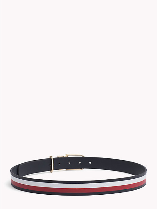 TOMMY HILFIGER Reversible Leather Belt - TOMMY NAVY/ CORPORATE - TOMMY HILFIGER Belts - detail image 1