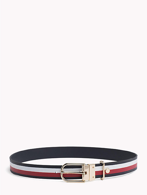 TOMMY HILFIGER Reversible leren riem - TOMMY NAVY/ CORPORATE - TOMMY HILFIGER NIEUW - main image