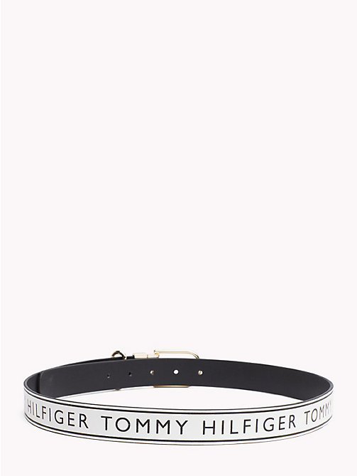 TOMMY HILFIGER Reversible Leather Belt - BLACK/ LOGO -  Bags & Accessories - detail image 1
