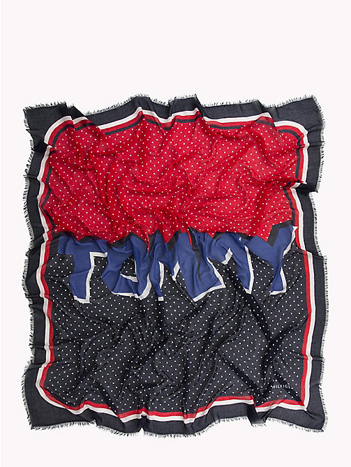 TOMMY HILFIGER Dot Print Square Scarf - CORPORATE - TOMMY HILFIGER Scarves - detail image 1