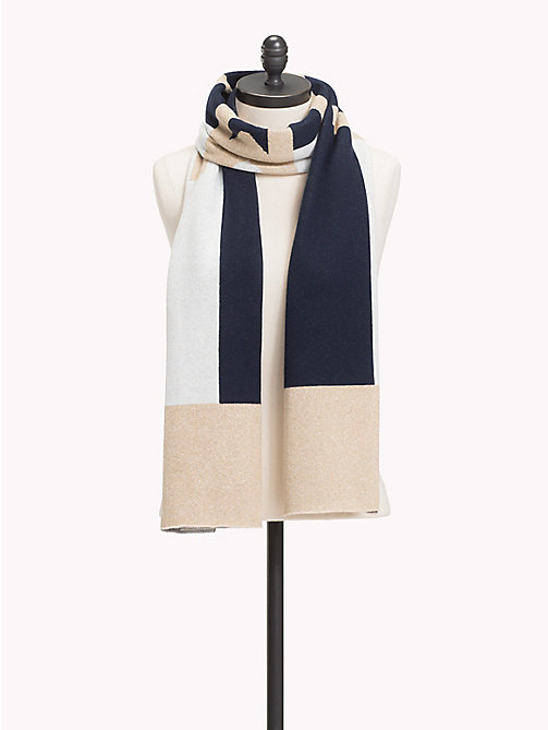 TOMMY HILFIGER Logo Knit Scarf - GOLD MIX - TOMMY HILFIGER Scarves - main image