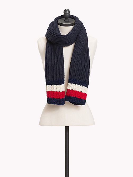 TOMMY HILFIGER Chunky Knit Signature Scarf - TOMMY NAVY -  Bags & Accessories - main image