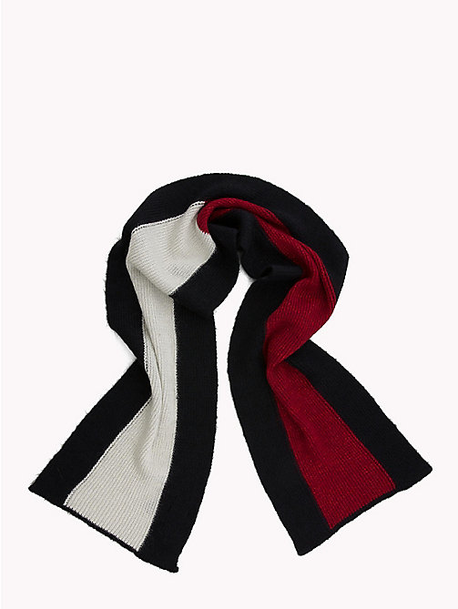 TOMMY HILFIGER Luxury Colour-Blocked Scarf - CORPORATE - TOMMY HILFIGER Scarves - detail image 1