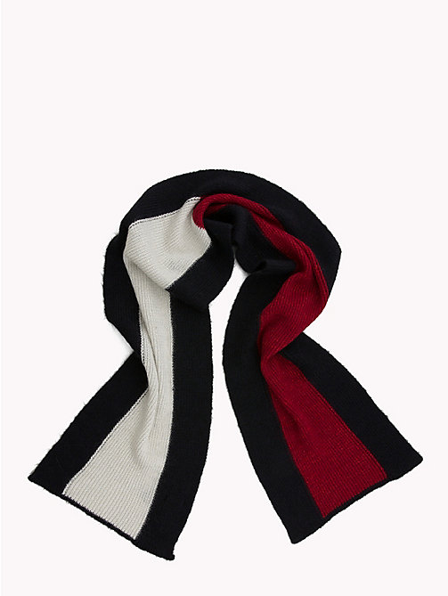 TOMMY HILFIGER Luxury Colour-Blocked Scarf - CORPORATE - TOMMY HILFIGER Bags & Accessories - detail image 1