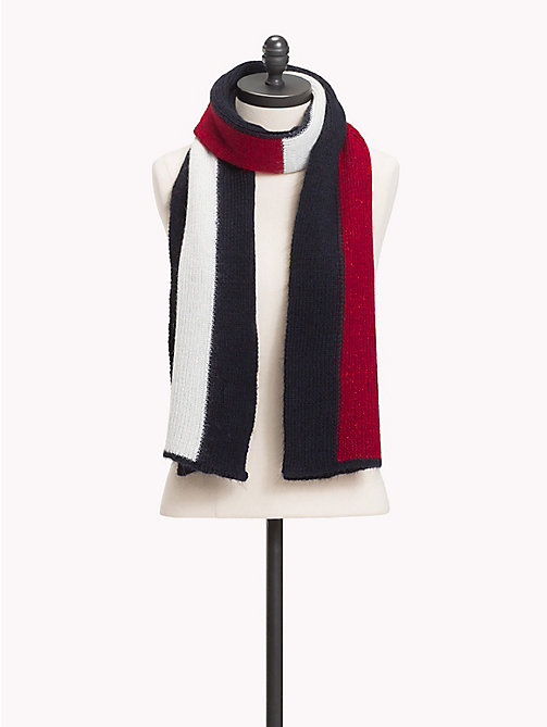 TOMMY HILFIGER Luxury Colour-Blocked Scarf - CORPORATE - TOMMY HILFIGER Rebajas Women - main image