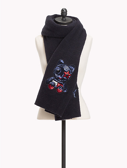 TOMMY HILFIGER Luxury Mascot Knit Scarf - CORPORATE - TOMMY HILFIGER Scarves - main image