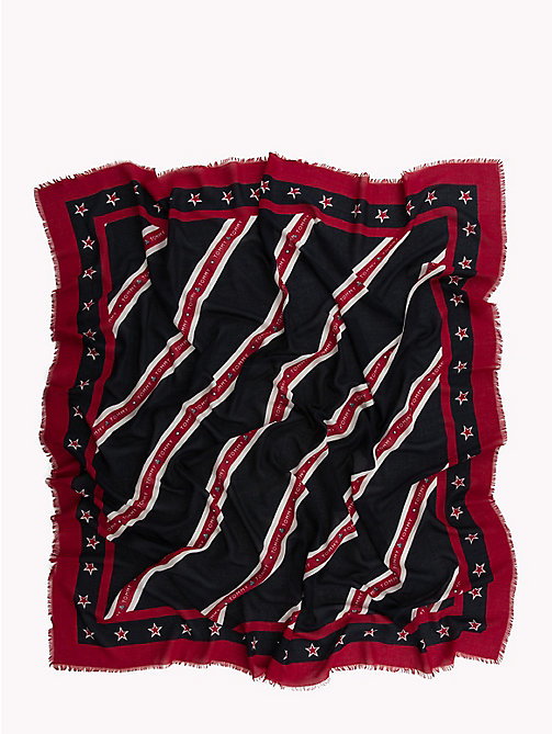 TOMMY HILFIGER Regimental Stripe Scarf - CORP MIX - TOMMY HILFIGER Scarves - detail image 1