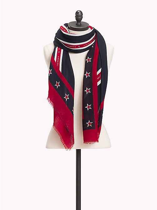TOMMY HILFIGER Regimental Stripe Scarf - CORP MIX - TOMMY HILFIGER Scarves - main image