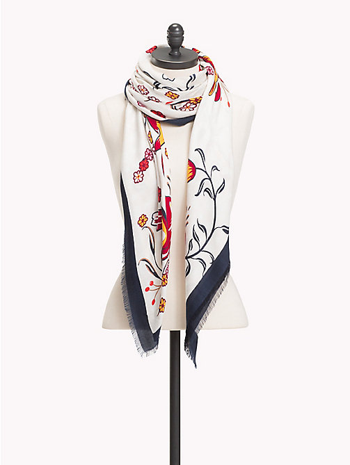 TOMMY HILFIGER Frayed Scarf - BIRCH - TOMMY HILFIGER Scarves - main image