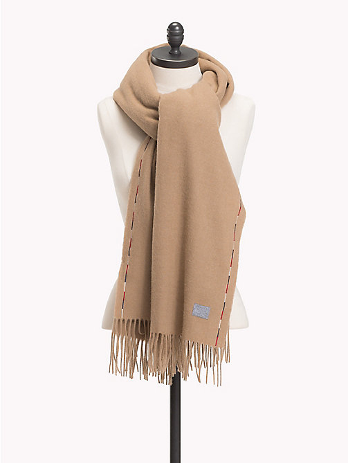 TOMMY HILFIGER Fringed Wool Scarf - CLASSIC CAMEL - TOMMY HILFIGER Bags & Accessories - main image