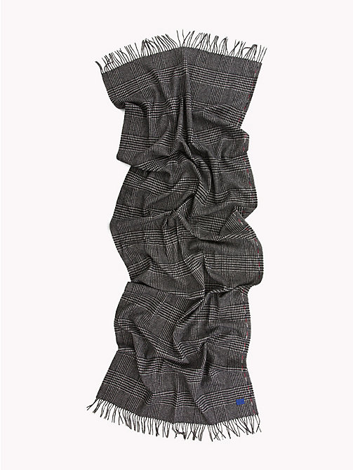 TOMMY HILFIGER Fringed Wool Scarf - POW CHECK - TOMMY HILFIGER Scarves - detail image 1