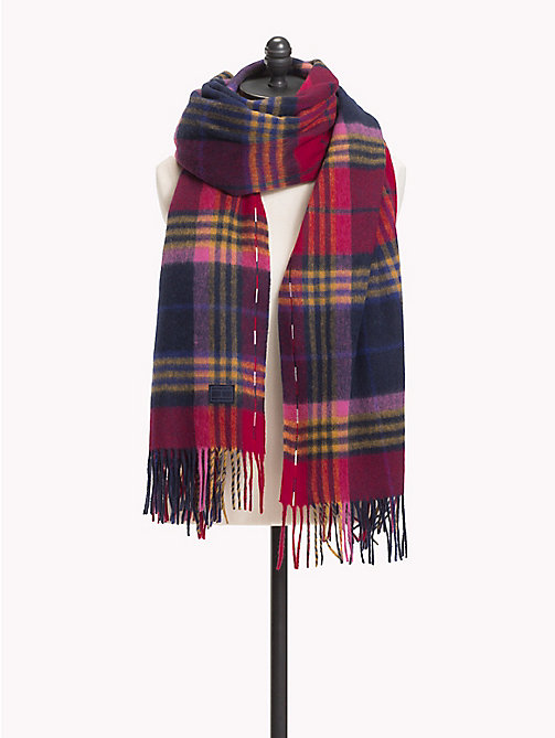 TOMMY HILFIGER Fringed Wool Scarf - PICNIC CHECK - TOMMY HILFIGER Scarves - main image