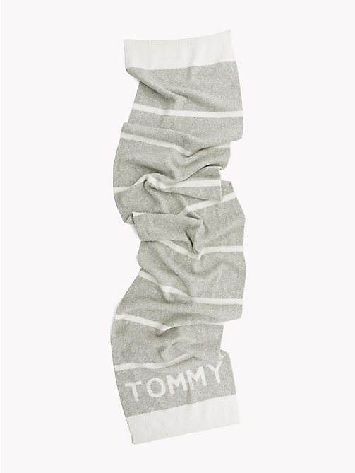 TOMMY HILFIGER Stripe Scarf - MID GREY HTR - TOMMY HILFIGER Winter Warmers - detail image 1