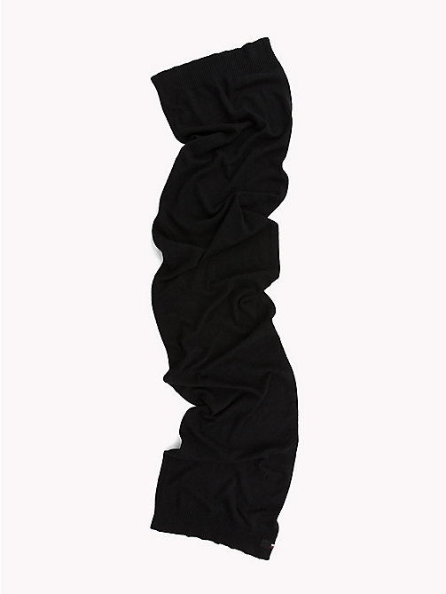 TOMMY HILFIGER Soft Knit Scarf - BLACK - TOMMY HILFIGER Scarves - detail image 1