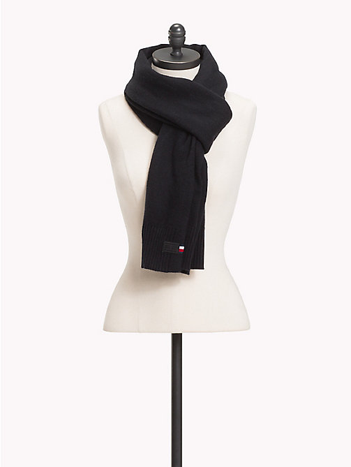 TOMMY HILFIGER Soft Knit Scarf - BLACK - TOMMY HILFIGER Scarves - main image