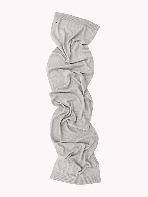 TOMMY HILFIGER Soft Knit Scarf - LIGHT GREY HEATHER - TOMMY HILFIGER Scarves - detail image 1