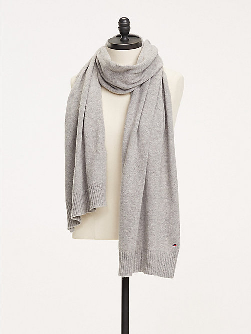 TOMMY HILFIGER Soft Knit Scarf - LIGHT GREY HEATHER - TOMMY HILFIGER Scarves - main image