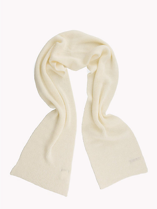 TOMMY HILFIGER Mohair Blend Knit Scarf - SNOW WHITE - TOMMY HILFIGER Bags & Accessories - detail image 1