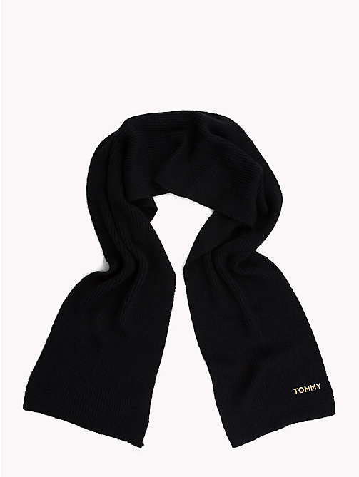 TOMMY HILFIGER Mohair Blend Knit Scarf - TOMMY NAVY - TOMMY HILFIGER Bags & Accessories - detail image 1