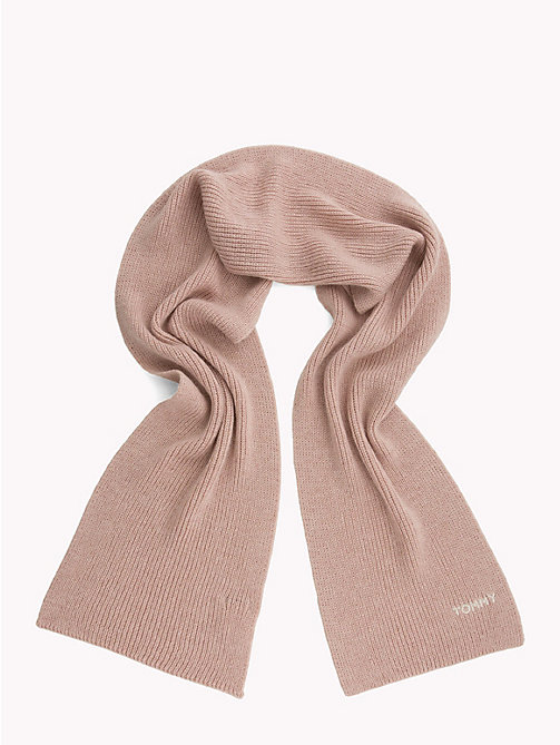 TOMMY HILFIGER Mohair Blend Knit Scarf - SILVER PINK - TOMMY HILFIGER Bags & Accessories - detail image 1