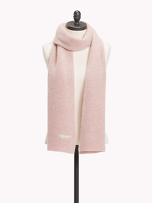 TOMMY HILFIGER Mohair Blend Knit Scarf - SILVER PINK - TOMMY HILFIGER Scarves - main image