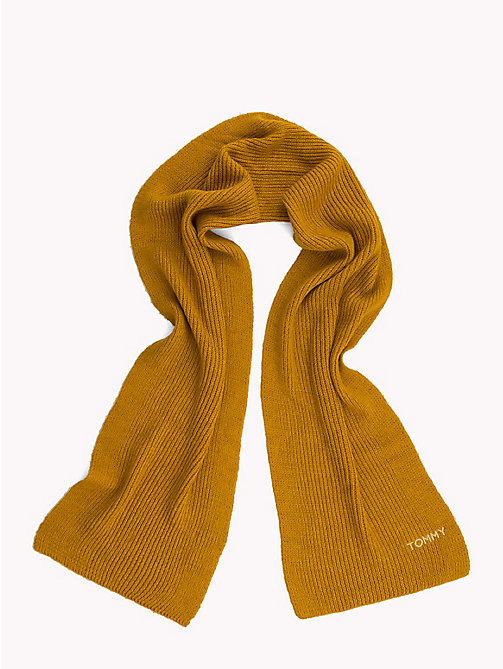 TOMMY HILFIGER Mohair Blend Knit Scarf - SUNFLOWER - TOMMY HILFIGER Scarves - detail image 1