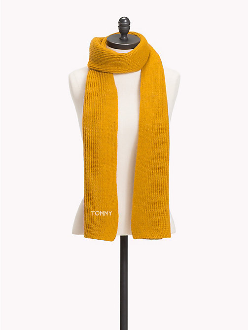 TOMMY HILFIGER Mohair Blend Knit Scarf - SUNFLOWER - TOMMY HILFIGER Scarves - main image
